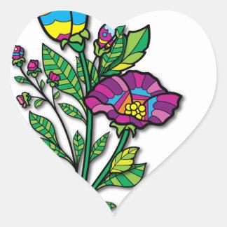 Productos y ropa coloreados multi del arte del pegatina en forma de corazón