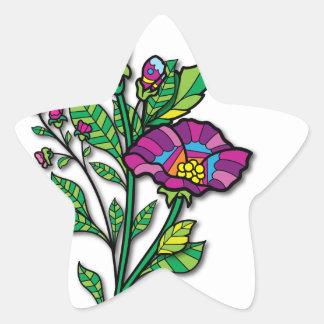 Productos y ropa coloreados multi del arte del pegatina en forma de estrella