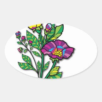 Productos y ropa coloreados multi del arte del pegatina ovalada