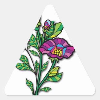 Productos y ropa coloreados multi del arte del pegatina triangular