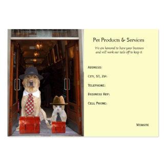 Productos y servicios del mascota plantilla de tarjeta de negocio