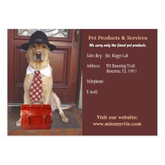 Productos y servicios del mascota plantilla de tarjeta personal