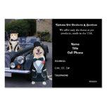 Productos y servicios del mascota tarjeta de visita