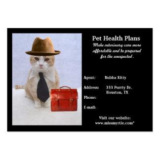 Productos y servicios del mascota tarjetas personales
