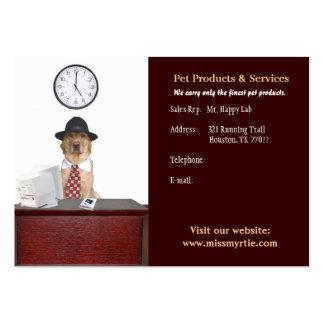 Productos y servicios del mascota tarjetas de visita