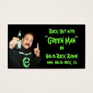 Products Designed By Request.Green Man Card 2