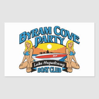 Products for the Byram Cove Party (BCP). Rectangular Sticker
