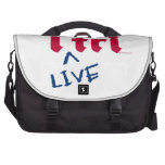 """products """"i tri"""" red with blue """"LIVE"""" Laptop Bags"""
