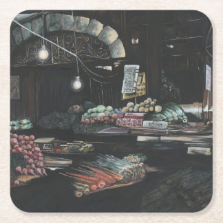 Products of a Struggled Harvest, Jerusalem Square Paper Coaster