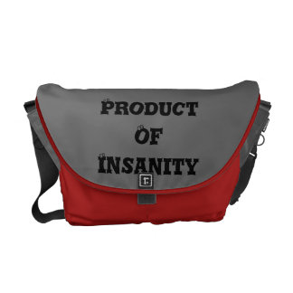 """Products Of Insanity """"Product"""" Messenger Bag"""