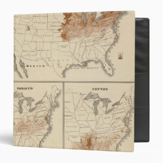 Products raised in 1870 Hay Tobacco Cotton 3 Ring Binder