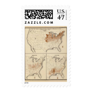 Products raised in 1870 Hay Tobacco Cotton Postage
