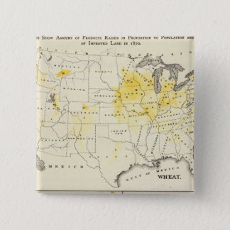 Products raised in proportion to population pinback button