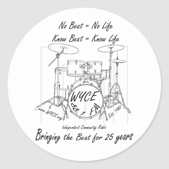Products to celebrate and support WYCE Classic Round Sticker