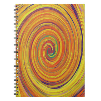 Products With a Water Color Twirl Design. Notebooks