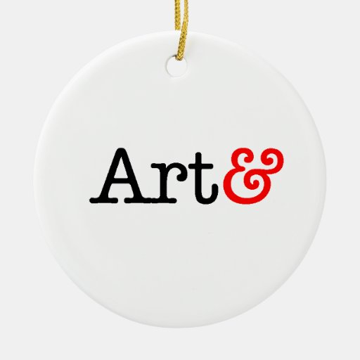 Products with the Art& mark Double-Sided Ceramic Round Christmas Ornament