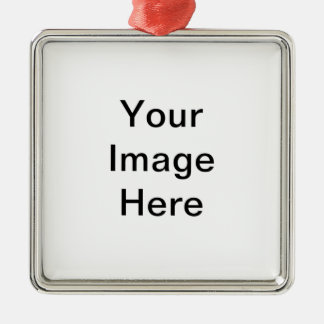 Products you personalized square metal christmas ornament