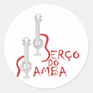 Produtos Berço hace la samba Pegatina Redonda