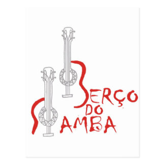 Produtos Berço hace la samba Tarjeta Postal