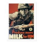 Produzca más LECHE para él poster de la guerra del Postales