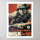 Produzca más leche para él posters