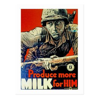 Produzca más leche para él tarjeta postal