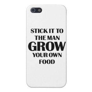 Produzca su propia comida iPhone 5 carcasa