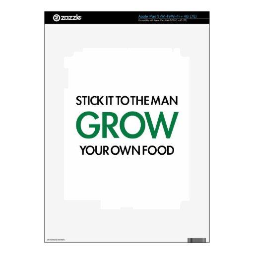 Produzca su propia comida (palillo él al hombre) iPad 3 pegatinas skins