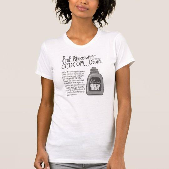 Prof. Ahnentafel's GEDCOM Drops T-Shirt