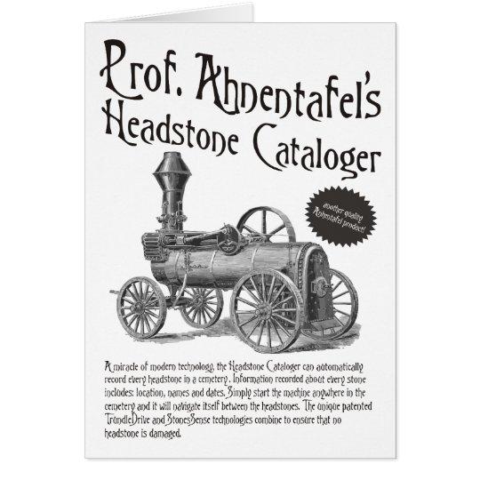 Prof. Ahnentafel's Headstone Cataloger Card