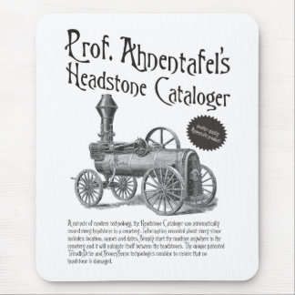 Prof. Ahnentafel's Headstone Cataloger Mouse Pad