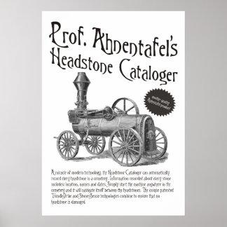 Prof. Ahnentafel's Headstone Cataloger Poster