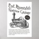 Prof. Ahnentafel's Headstone Cataloger Posters