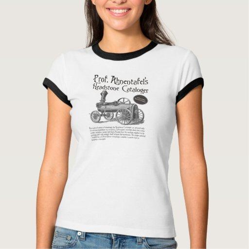 Prof. Ahnentafel's Headstone Cataloger Tshirt