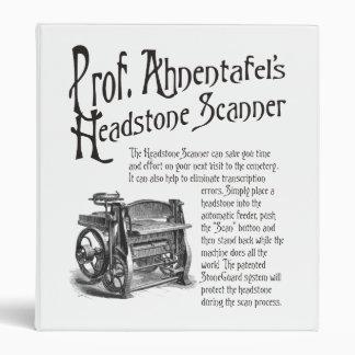 Prof. Ahnentafel's Headstone Scanner. Binder