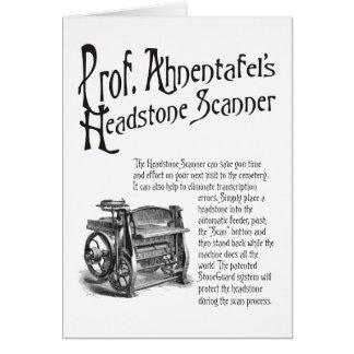 Prof. Ahnentafel's Headstone Scanner. Card