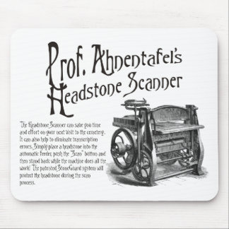 Prof. Ahnentafel's Headstone Scanner. Mouse Pad