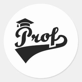 Prof Classic Round Sticker