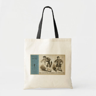 Prof. Frederick Hape-e-man playing on two Violins Budget Tote Bag