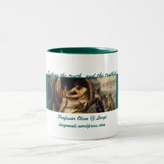 Prof Olsen @ Large_Blog Banner Two-Tone Coffee Mug