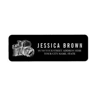 Profecional VINTAGE Photography Address Label
