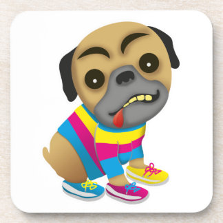 Profesa como un perro multicolor posavaso