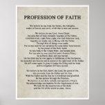 Profesión de la fe poster