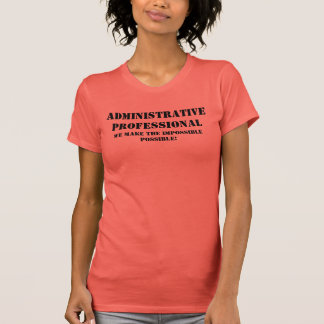 Profesional administrativo camisetas