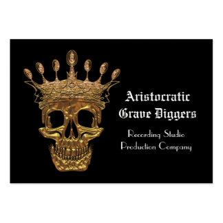 Profesional aristocrático del negro del cráneo tarjetas de visita grandes