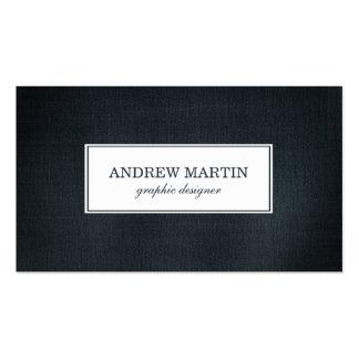 Profesional azul del dril de algodón tarjetas de visita