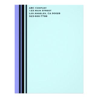 profesional azul membretes personalizados