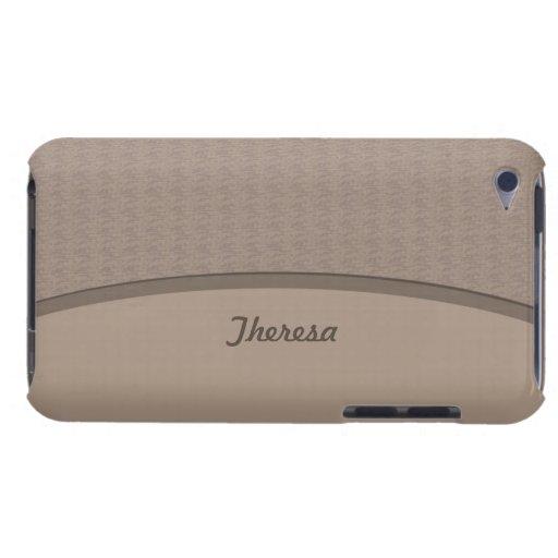 Profesional beige elegante iPod touch Case-Mate cárcasa