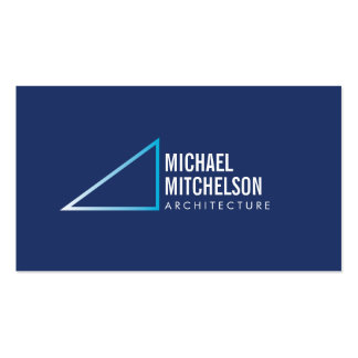 Profesional blanco azul de ángulo recto arquitectó