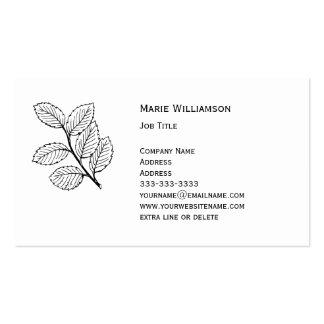 Profesional blanco y negro simple de la naturaleza tarjetas de visita